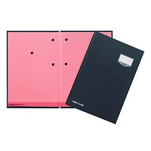 Unterschriftsmappe Pagna 24201, 20 Fächer, Leineneinband, schwarz
