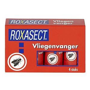 Attrape-mouches Roxasect®, rouleaux collants, le paquet de 4 pièces