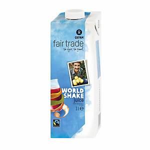 Oxfam Fairtrade worldshakesap fruitsap, 1 l, per stuk