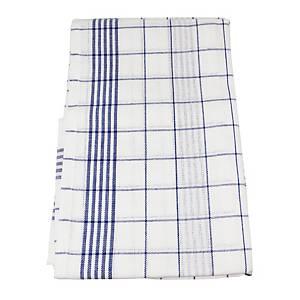 Küchentücher Albis Bettwaren, blau/weiss, Packung à 3 Stück