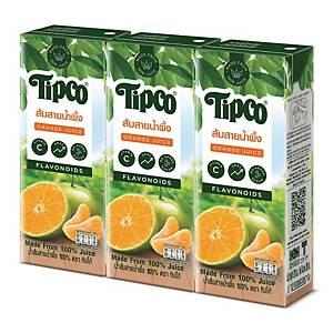 TIPCO SAI NAM PHUENG ORANGE JUICE 100% PACK OF 3
