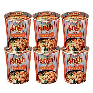 MAMA INSTANT NOODLES CUP TOM YAM KUNG PACK OF 6