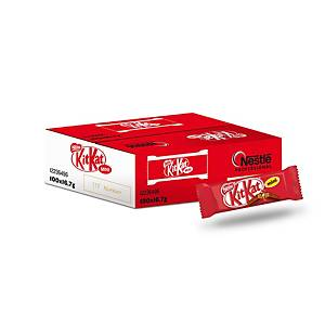 Caja de 100 paquetes de galleta y chocolate con leche KitKat Mini - 16,7 g