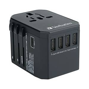 Verbatim 65686 5 Ports Travel Adapter Black