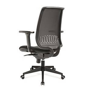 Cadeira com mecanismo sincronizado Italy - preto
