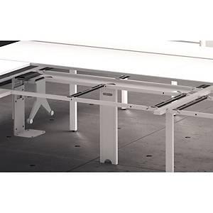 Bandeja passa-cabos horizontal Ofitres - 1400 x 240 mm - branco