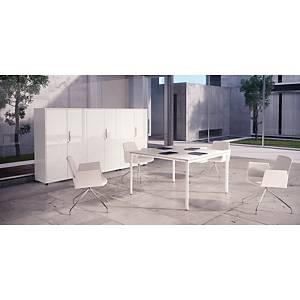 Mesa de reunião Ofitres Ocean - larg. 2000 mm - branco/branco