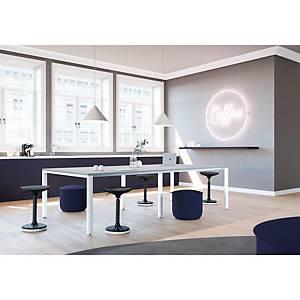 Mesa de reunião Ofitres Ocean - larg. 1600 mm - branco/branco