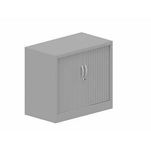 Armário com portas de persiana Lyreco - 800 x 710 mm - alumínio/alumínio