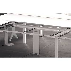 BANDEJA PASACABLES HORIZONTAL PARA MESA DOBLE OCEAN 160CM COLOR BLANCO