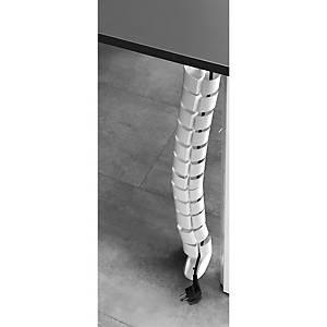 Passa-cabos vertical Ofitres - 72 x30 x720 mm - branco