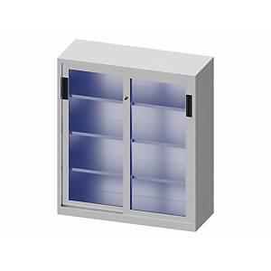 LYRECO CUPB GLASS DOOR 138X120X45CM ALU