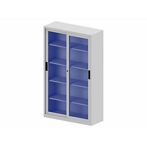 LYRECO CUPB GLASS DOOR 198X120X45CM ALU