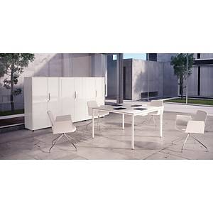 OCEAN MEETING TABLE 120X120CM WHITE