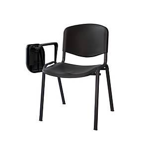 Pack 3 cadeiras de conferência com aba - preto