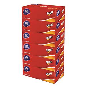 Vinda Smart Box Facial Tissue 2-ply - Pack of 6