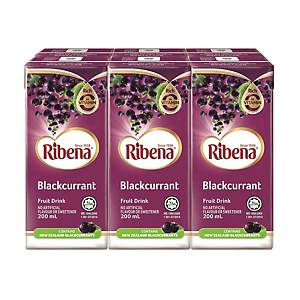 Ribena Blackcurrant Fruit Drink 200ml - Pack of 6