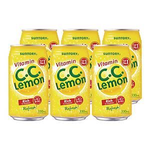 Suntory 新得利 檸檬碳酸飲品330毫升 - 6罐裝