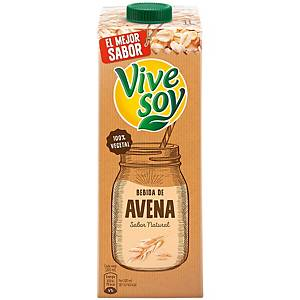 Pack de 6 pacotes de leite de aveia Vivesoy - 1 L