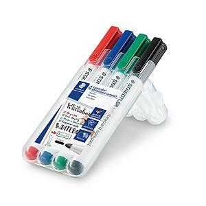 Pack 4 marcadores quadro Staedtler Lumocolor - ponta cónica - sortido