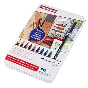Pack 10 marcadores Edding 1300 - sortido