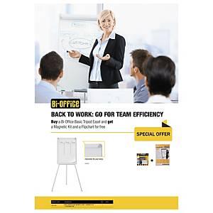 Promopack: Tableau de conférence + feuilles de conférence et kit de départ