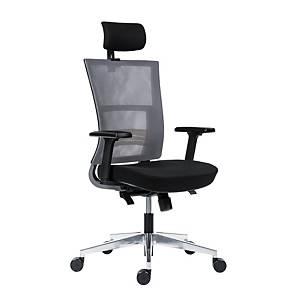 Antares Next Mesh irodai szék, fekete és szürke