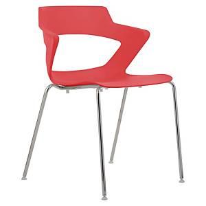 Konferenčná stolička Antares Aoki, červená