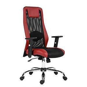 Kancelárska stolička Antares Sander, červená & čierna