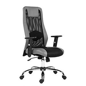 Kancelárska stolička Antares Sander, sivá & čierna