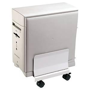 Lyreco CPU computerstandaard op wieltjes, grijs
