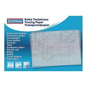 Kalka DONAU transparentna, A4, 90g/m2, 10 kartek