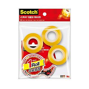PK3+1 3M 583 CLR TAPE W/DISP OFFICEPACK
