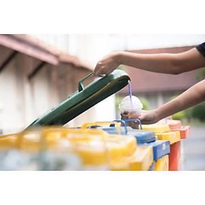 Rolo de 10 sacos do lixo industriais - 120 L - calibre 120 - amarelo