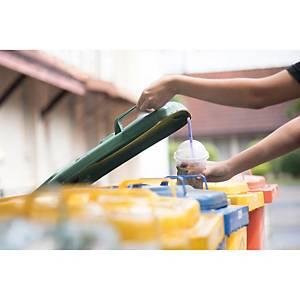 Rollo de 10 bolsas de basura industriales - 50 L - 90 galgas - blanco