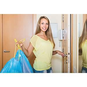 Rollo de 15 bolsas de basura con cierre fácil - 30 L - 65 galgas - amarillo