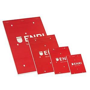 ENRI 100102716 S/COV N/BK A5 PLAIN RED