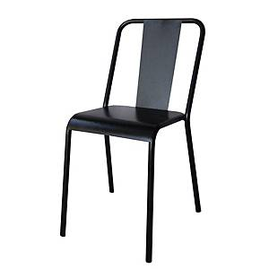 VINTAGE CONFERENCE METALIC CHAIR BLACK