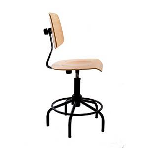 ERGOMOBEL INDUSTRIAL STOOL PARIS-20 WOOD