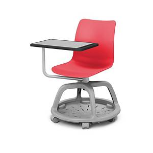 LYRECO COLLEGE CHAIR ROTARY 360º RED/GRY