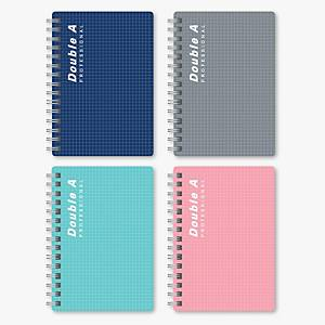 Double A PP Cover Wired Binding Notebook Assorted Color A5