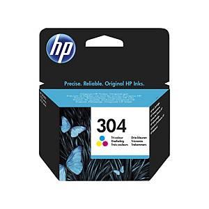 HP 304 Tri-Colour Original Ink Cartridge (N9K05AE)