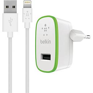 Laddare Belkin BOOST↑UP Home, Lightning till USB, vit