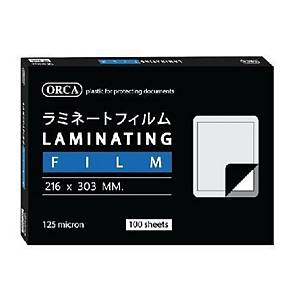 ORCA Laminating Pouch 216X303mm 125 mi - Pack of 100