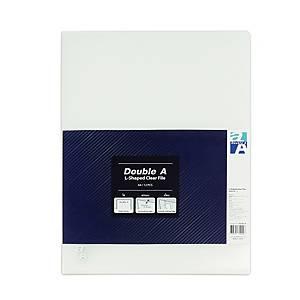 DOUBLE A แฟ้มเอกสารพลาสติก 0.18มม. A4 สีใส แพ็ค 12