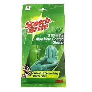 Scotch Aloe Vera Gloves Medium - One pair