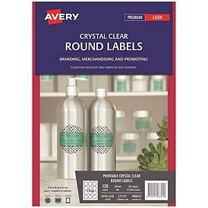 Avery 艾利 L7114/ 980022 透明圓形標籤 60毫米 每張12個標籤