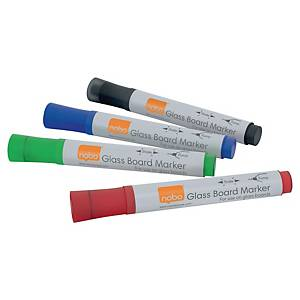 Nobo üvegtábla marker, vegyes színek, 4 darab