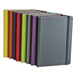 Taccuino con elastico Fabriano EcoQua A5 pagine bianche colori assortiti
