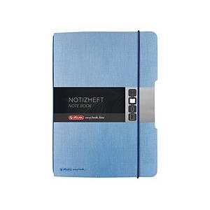 Herlitz my.book Flex A5-ös jegyzetfüzet, négyzethálós, kék